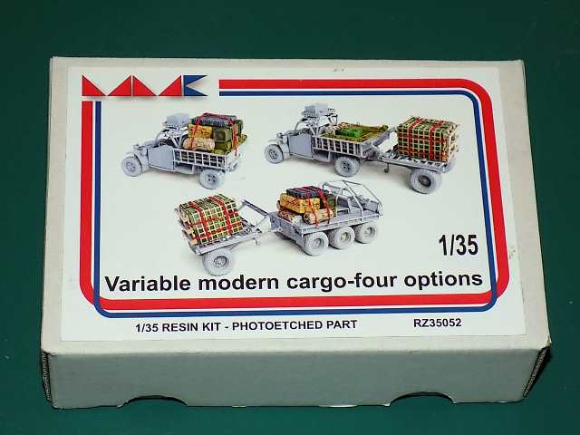 MMK 1/35 RZ35052 Variable Resin Modern Cargo - 4 Options Date: 00's