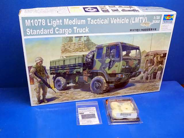 Trumpeter 1/35 01004 M1078 LMTV Standard Cargo Truck) w/Extras Date: 00's