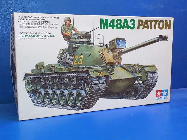 Tamiya 1/35 35120 M48A3 Patton (No Decals) Date: 90's