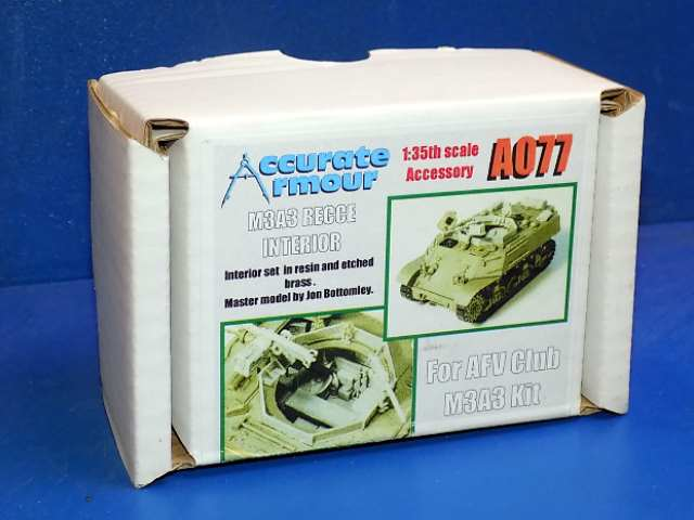 Accurate Armour 1/35 A077 M3A3 Recce Resin Interior (for the AFV Club kit) Date: 00's