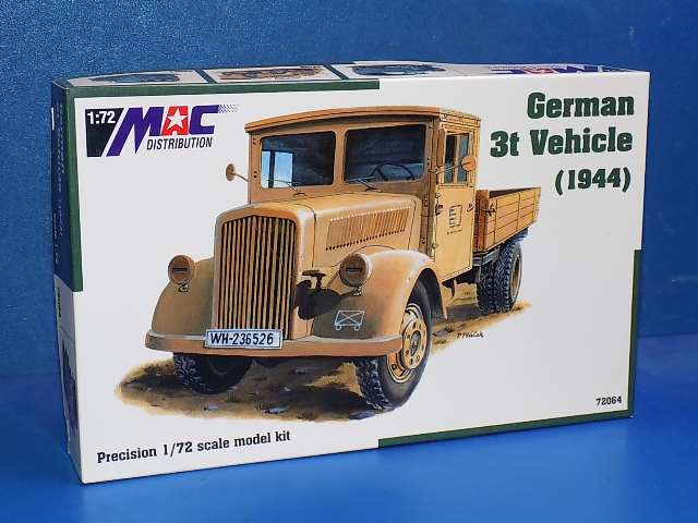 Mac Distribution 1/72 72064 German 3t Vehicle 1944 Date: 00's