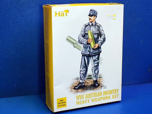 Hat 1/72 8081 WWI Austrian Infantry Heavy Weapons Date: 00's