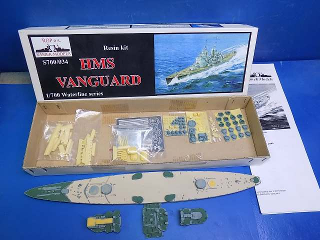 Samek Models 1/700 034 HMS Vanguard Resin Kit (Part Painted) Date: 00's