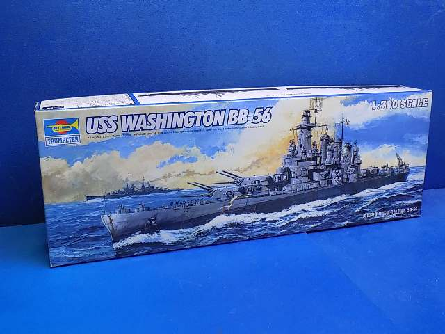 Trumpeter 1/700 05735 USS Washington BB-56 (No Stand) Date: 00's