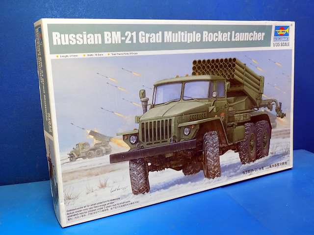 Trumpeter 1/35 01013 Russian BM-21 Grad Multiple Rocket Launcher Date: 00's