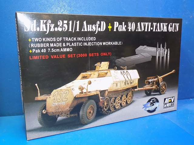 AFV Club 1/35 35S28 Sd.Kfz 251/1 Ausf.D with Pak 40 Date: 00's