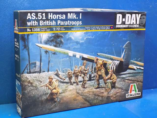 Italeri 1/72 1356 AS51 Horsa W/ British Paratroops Date: 00's