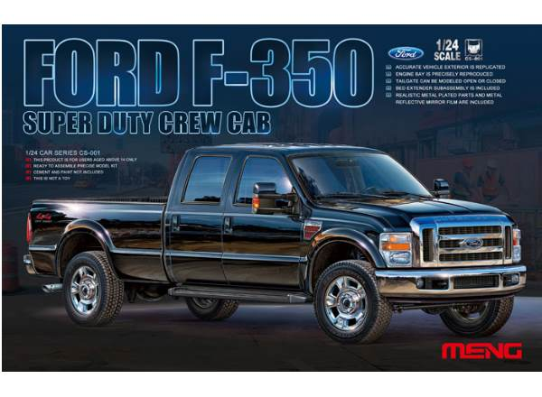 Meng Model 1/24 CS-001 Ford F-350 Super Duty Crew Cab