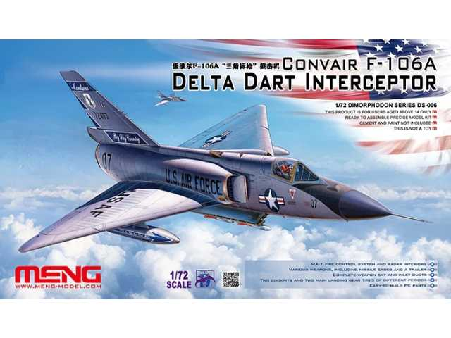 Meng Model 1/72 DS-006 Convair F-106A Delta Dart Interceptor