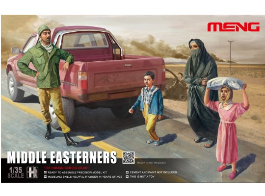 Meng Model 1/35 HS-001 Middle Easterners - Figures