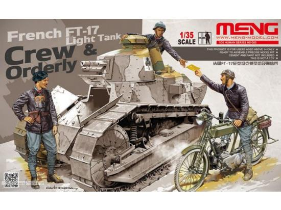 Meng Model 1/35 HS-005 French FT-17 Light Tank Crew & Orderly