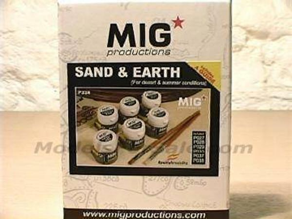 Mig Productions 6x20ml 00228 Pigment - Sand & Earth Pigment Set