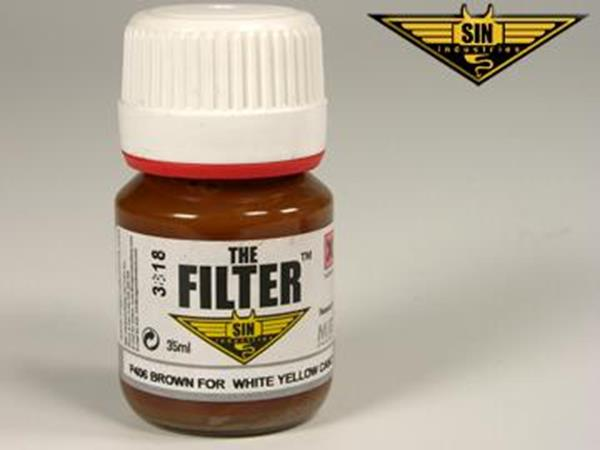 Mig Productions 35ml 00406 Filter - Brown Filter for White-Yellow Camo