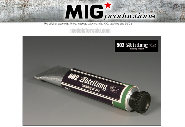 Mig Productions na ABT040 Abteilung Oil Colour -  Faded Green
