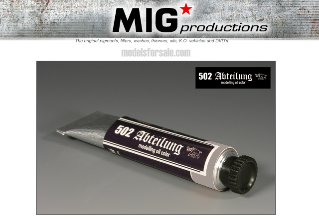 Mig Productions na ABT165 Abteilung Oil Colour - Faded UN White