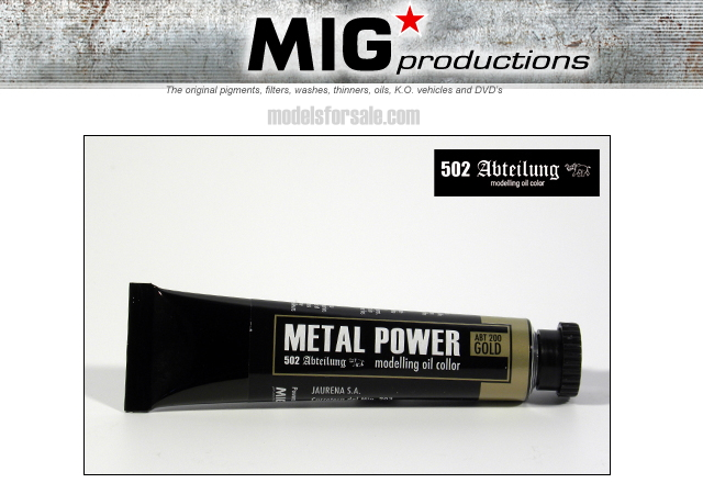 Mig Productions na ABT200 Abteilung Oil Colour - Metal Power Gold