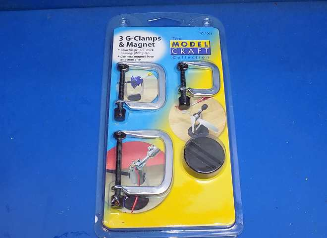 Model Craft - PCL1003 3 X G-Clamps with Magnet Base