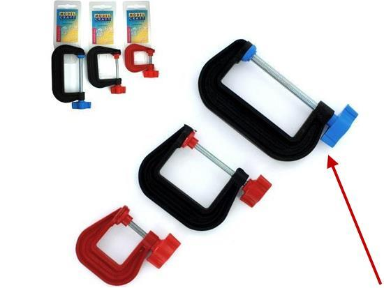 "Model Craft - PCL3075 Plastic G-Clamp 75mm (3.0"")"