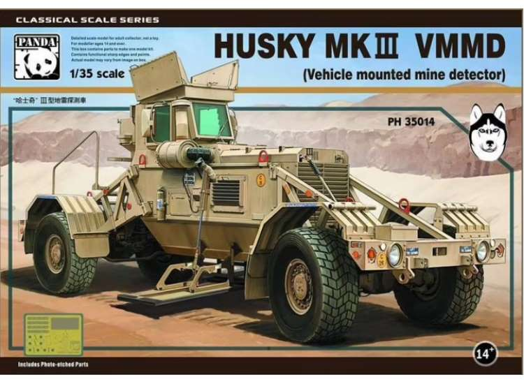 Panda Models 1/35 35014 Husky Mk.III VMMD - Vehicle Mounted Mine Detector
