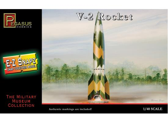 Pegasus Hobbies 1/48 V-2 Rocket  E-Z Snap kit 8416