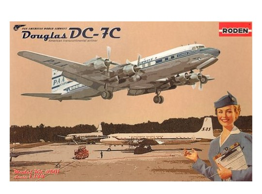 Roden 1/144 301 Douglas DC-7C Pan American World Airways (PAA)
