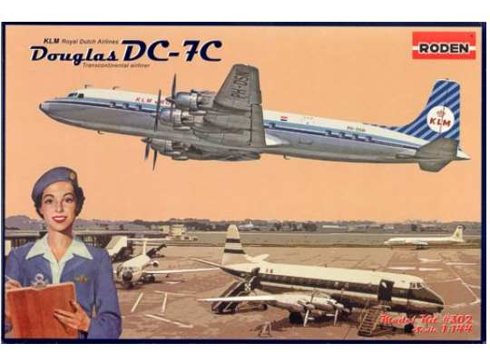 Roden 1/144 302 Douglas DC-7C Royal Dutch Airlines (KLM)