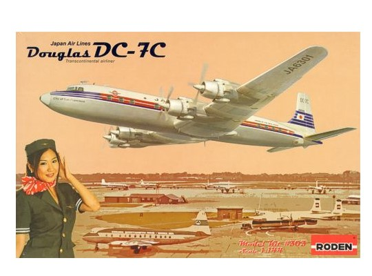 Roden 1/144 303 Douglas DC-7C Japan Air Lines