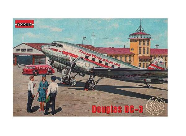 Roden 1/144 309 Douglas DC-3 Trans World Airlines late 1930s