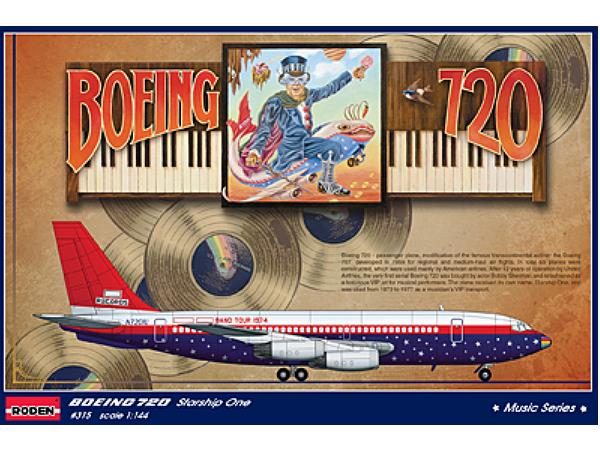 Roden 1/144 315 Boeing 720 Starship One - Elton John 1974 Band Tour