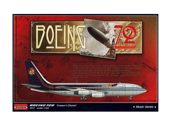 Roden 1/144 317 Boeing 720 N7224U 'Caesar's Chariot'  Led Zeppelin North American Tour
