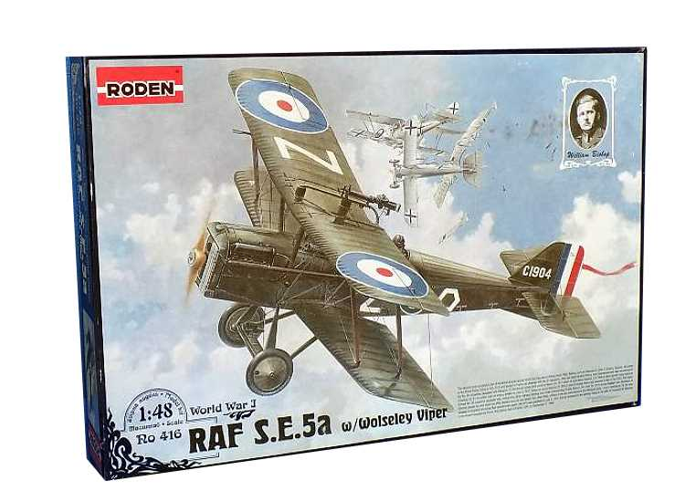 Roden 1/48 416 Royal Aircraft Factory SE.5A with Wolsely Viper engine