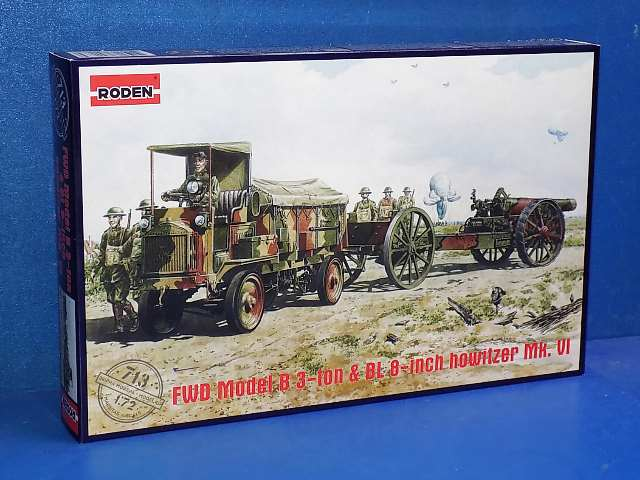 Roden 1/72 713 FWD Model B 3-ton Lorry w/ BL 8 Inch Howitzer