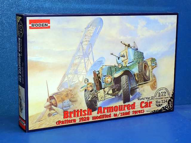 Roden 1/72 734 WWII British Armoured Car Mod w/ Sand Tyres