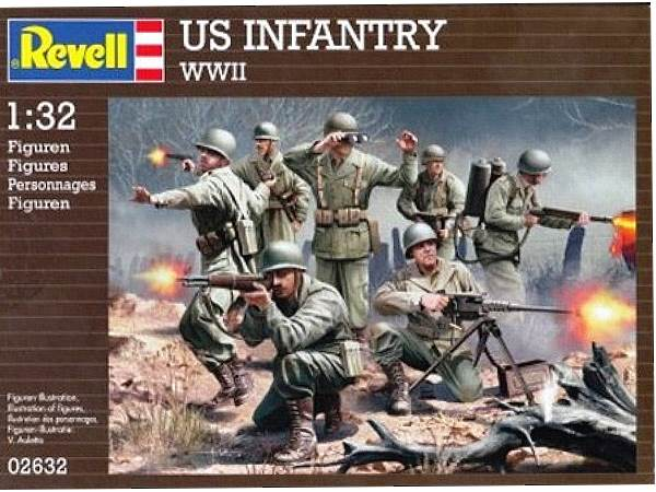 Revell 1/32 2632 WWII US Infantry