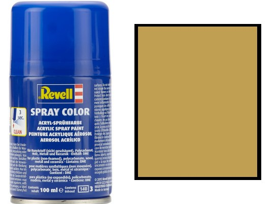 Revell 100ml 34116 016 Sandy Yellow Matt Acrylic Spray