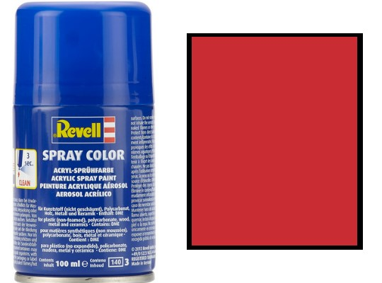 Revell 100ml 34131 031 Fiery Red Gloss Acrylic Spray