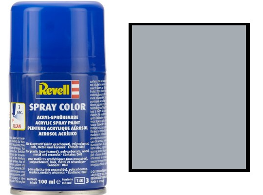 Revell 100ml 34191 091 Steel Metallic Acrylic Spray