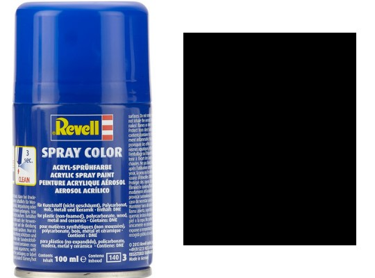 Revell 100ml 34302 302 Black Silk Acrylic Spray