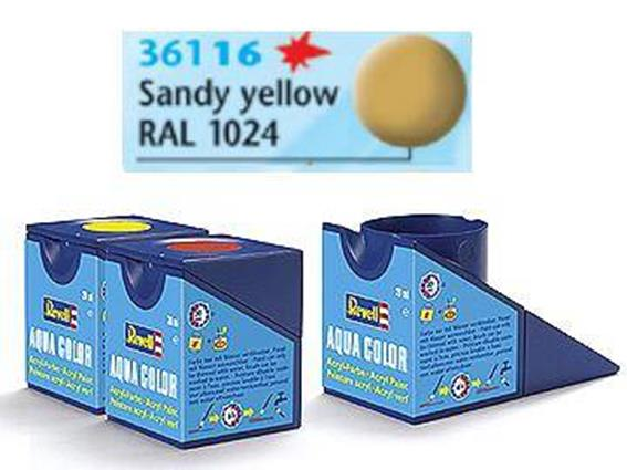Revell 18ml 36116 16  Acrylic Matt - Sandy Yellow