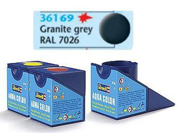 Revell 18ml 36169 69 Acrylic Matt - Granite Grey