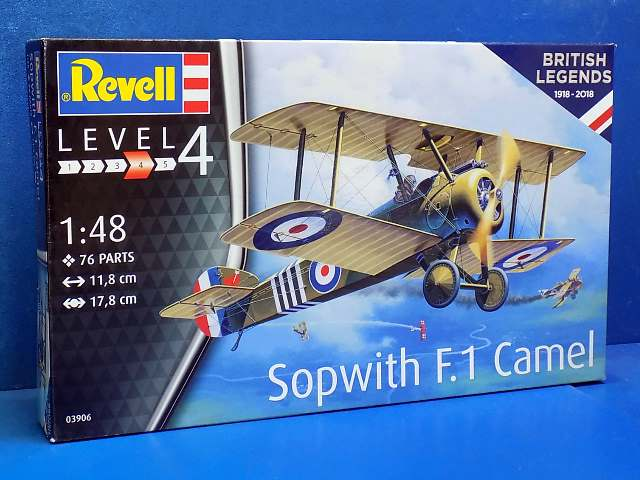 Revell 1/48 3906 100 years RAF British Legends: Sopwith F.1 Camel