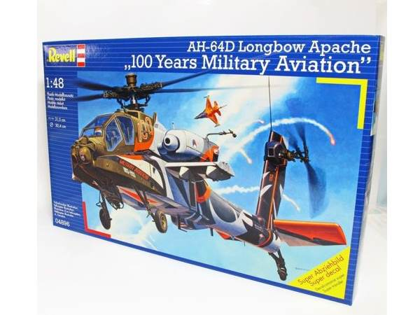 Revell 1/48 4896 AH-64D Longbow Apache 100 Years Military Aviation