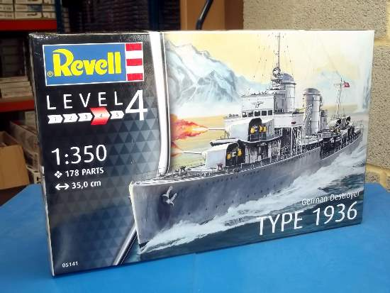 Revell 1/350 5141 German Destroyer Type 1936