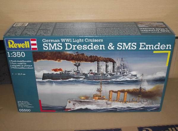 Revell 1/350 5500 SMS Dresden & SMS Emden German WWI Light Cruisers