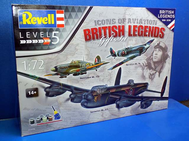 Revell 1/72 5696 British Legends Gift Set - Lancaster Mk.III, Hurricane IIB, Spitfire VB