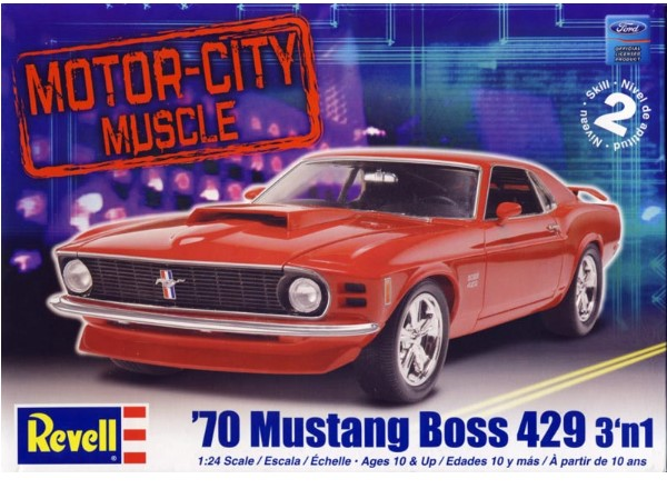 Revell Monogram 1/24 2149 Motor City Muscle '70 Boss 429 Mustang 3 'n 1