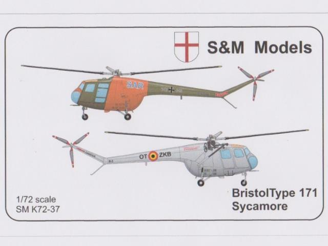 S&M Models Bristol Sycamore Typ 171 German & Belgium Issue 72-37