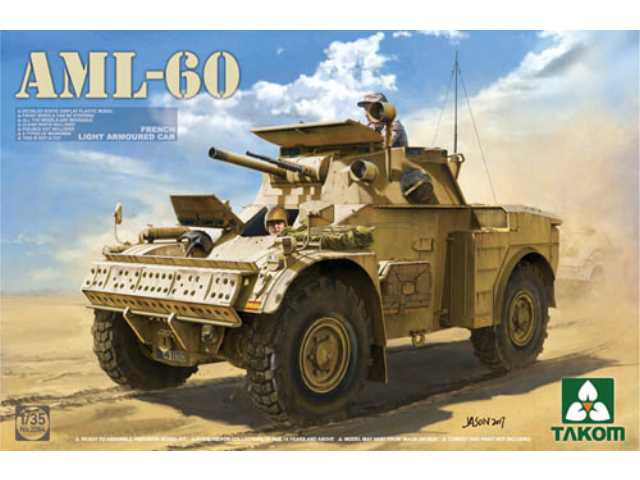 Takom 1/35 2084 French Light Armoured Car AML-60