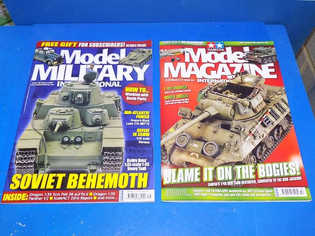 Tamiya Magazines na FREE52 FREE GIFT FOR ORDERS OVER £60 - Model Magazine and Model Military March 2017