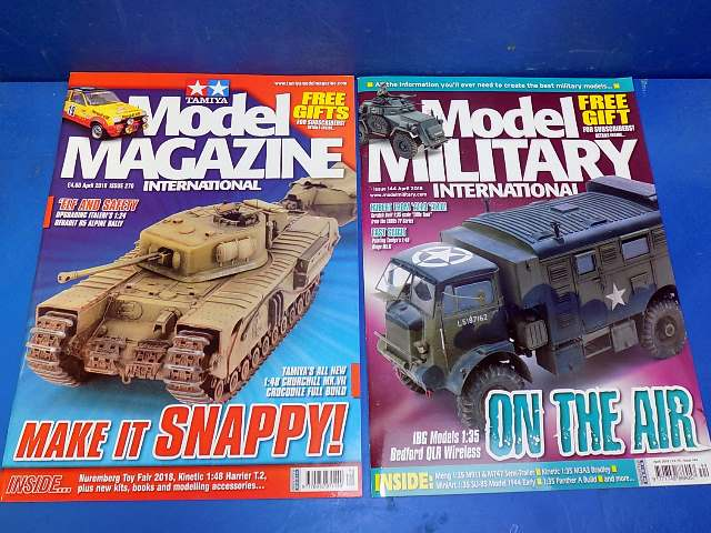 Tamiya Magazines na FREE64 FREE GIFT FOR ORDERS OVER £60 - Model Magazine and Model Military Apr 2018
